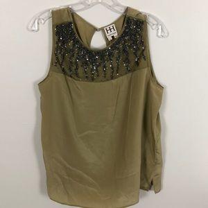 Haute Hippie Silk Sequin Sleeveless Top Size L